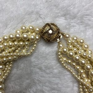 Carolee Jewelry - Vintage Carolee Multi String Pearl Styled Necklace